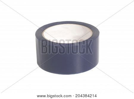 Roll of sticky insulating scotch tape isolated on a white background