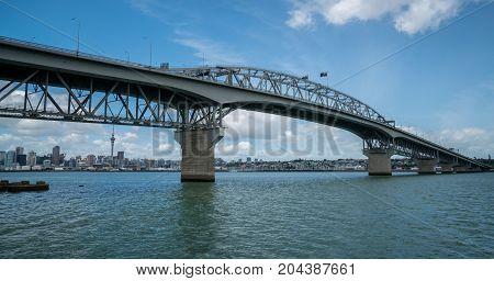 Auckland Harbour Bridge In Auckland, New Zealand