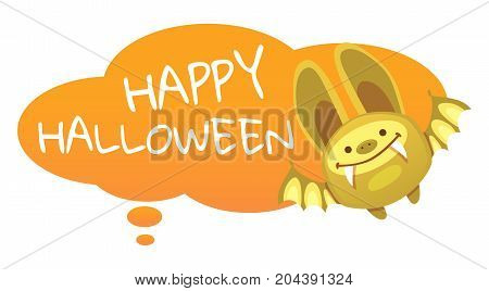 Halloween Bat illustration. Halloween background with bat