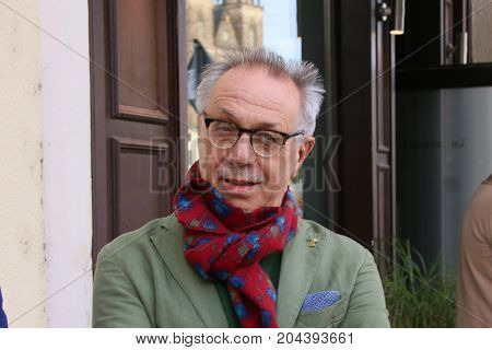 MAGDEBURG, GERMANY - September 15, 2017: The head of the Berlinale International Film Festival, Dieter Kosslick, during a visit in Magdeburg.