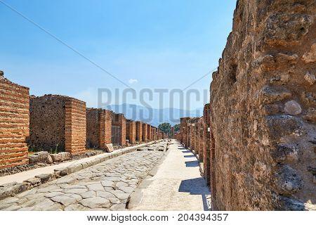 A Street In Pompeii