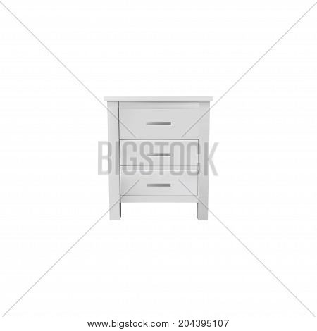 Realistic Closet Element. Vector Illustration Of Realistic Commode Isolated On Clean Background