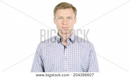 Serious Middle Age Businessman Isolated On White Background