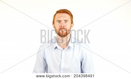 Business Loss Reaction, Expression By Emotional Man