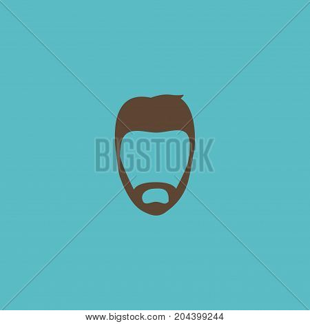 Flat Icon Beard Element. Vector Illustration Of Flat Icon Hairstyle Isolated On Clean Background