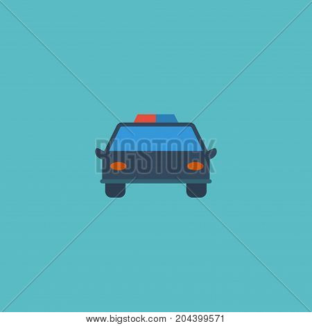 Flat Icon Automobile Element. Vector Illustration Of Flat Icon Police Car Isolated On Clean Background