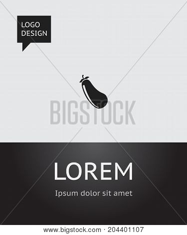 Vector Illustration Of Vegetable Symbol On Eggplant Icon