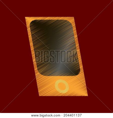 flat shading style icon music player equipment