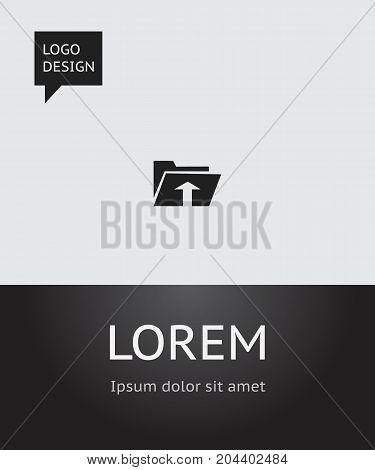 Vector Illustration Of Internet Symbol On Upload Icon