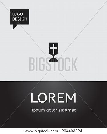 Vector Illustration Of Religion Symbol On Cross Icon