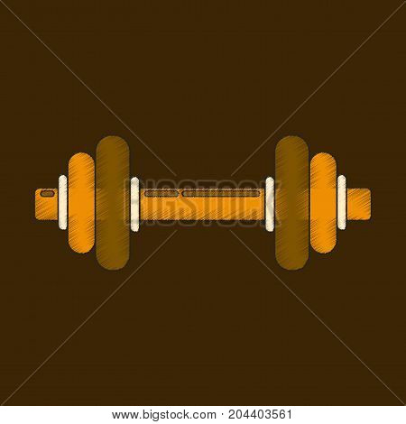 flat shading style icon dumbbell muscular powerlifting