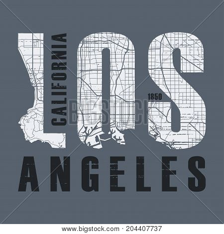 Los Angeles t-shirt and apparel vector design, print, typography, poster, emblem