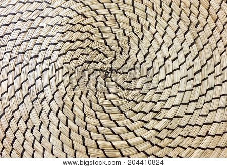 Background Pattern Brown Square Handicraft Weave Texture Wicker Surface for Furniture Material.