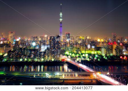 Tokyo Sky Tree With Tokyo Cityscape