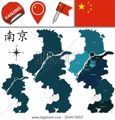 Map Of Nanjing With Divisions