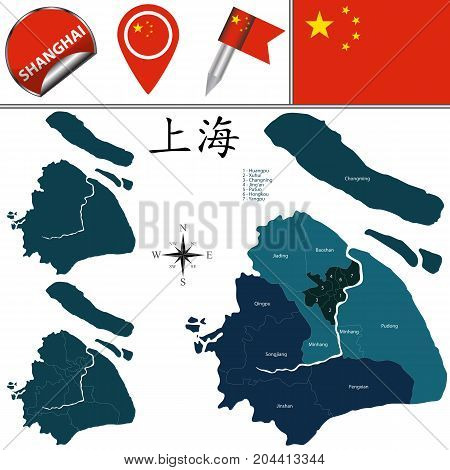 Map Of Shanghai With Districts