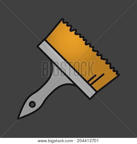 Big paint brush color icon. Isolated vector illustration