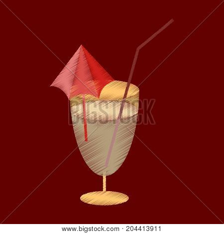 flat shading style icon cocktail alcohol beverage
