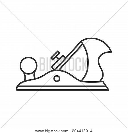 Jack plane linear icon. Thin line illustration. Contour symbol. Vector isolated outline drawing