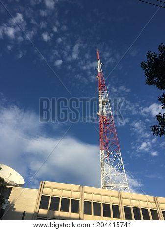 Radio and TV broadcasting antenna in Washington, DC