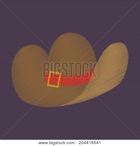 flat shading style icon clothes cowboy hat