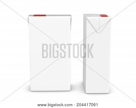 Carton Package Set 3D Illustration