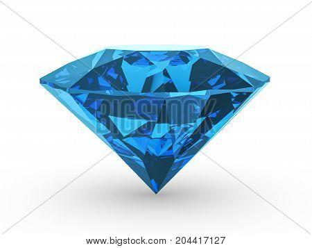 Diamond Blue 3D Illustration