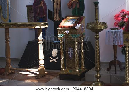 Interior in the Christian Church of the Kyiv Patriarchate