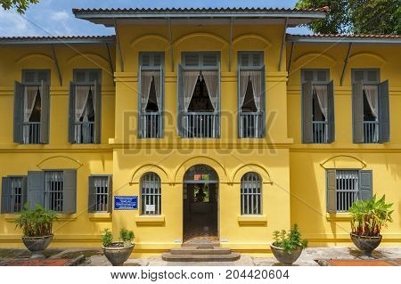 Nakhon Phanom, Thailand - May 2017: Old Classic Colonial-style Building Of Former Governor's Mansion