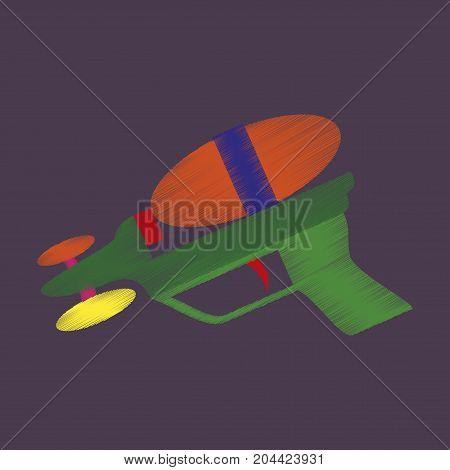 flat shading style icon Toy gun watergun