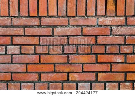 The old vintage brick wall for texture or background.