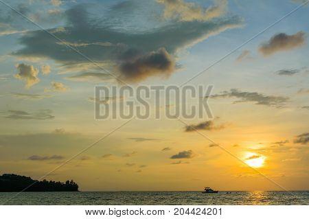 Dramatic Colorful Sunset And Sunrise Sky