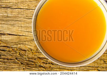 Sweet Honey In Bowl On Rustic Wooden Table