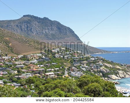 FROM LLUNDUDNO, CAPE TOWN, SOUTH AFRICA, ON A CLEAR, SUMMER DAY