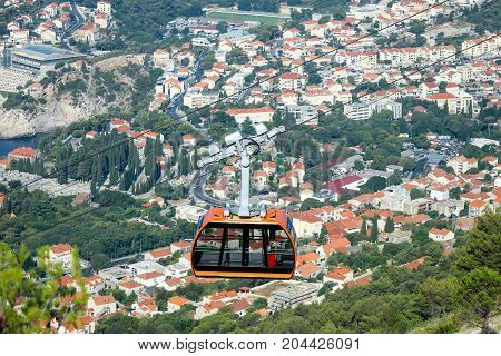 Cable Car Above Dubrovnik