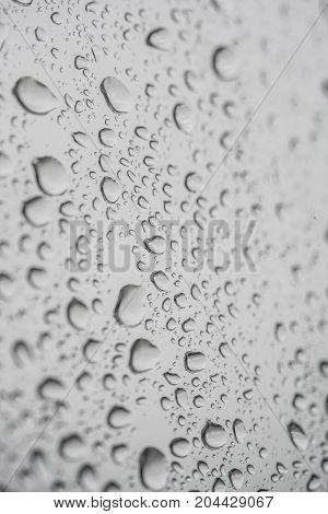 Rain Drops On Window Pane