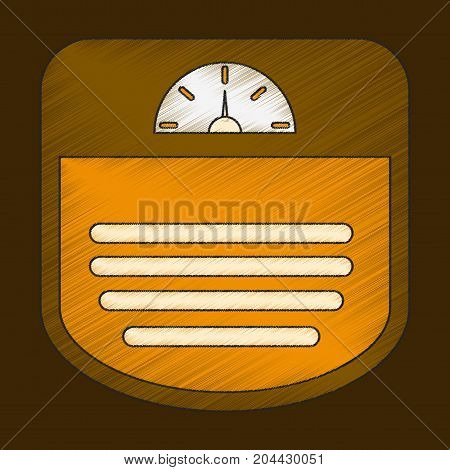 flat shading style icon Sports scales device