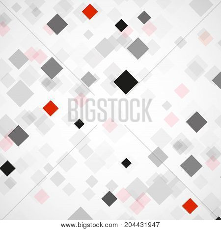 Abstract background with colorful squares. Modern vector design