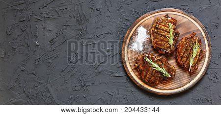 Sirloin Steaks On Plate