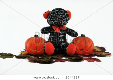 Bear And 2Pumpkins