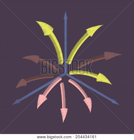 flat shading style icon Arrow chart communication