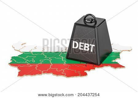 Bulgarian national debt or budget deficit financial crisis concept 3D rendering