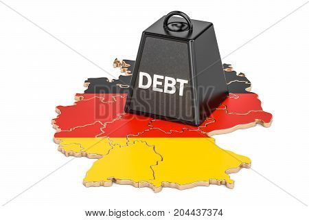 German national debt or budget deficit financial crisis concept 3D rendering