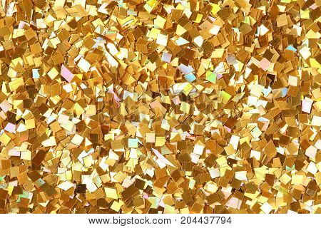 Sparkle glittering background, macr texture. High resolution photo