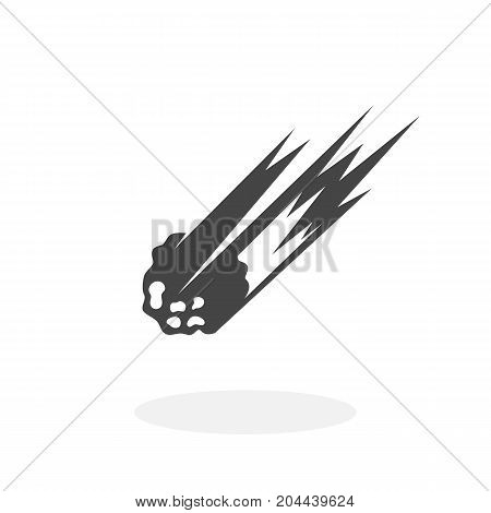 Asteroid icon isolated on white background. Asteroid vector logo. Flat design style. Meteorite vector pictogram for web graphics - stock vector