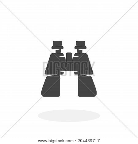 Binocular icon isolated on white background. Binocular vector logo. Flat design style. Modern vector pictogram for web graphics - stock vector