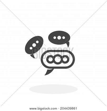 Speech bubbles icon isolated on white background. Speech bubbles vector logo. Flat design style. Modern vector pictogram for web graphics - stock vector