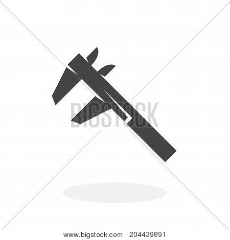Calipers icon isolated on white background. Calipers vector logo. Flat design style. Modern vector pictogram for web graphics - stock vector