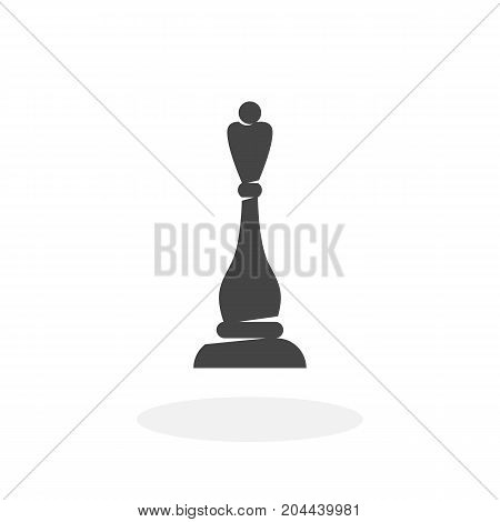 Chess queen icon isolated on white background. Chess queen vector logo. Flat design style. Modern vector pictogram for web graphics - stock vector