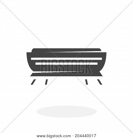 Air conditioner icon isolated on white background. Air conditioner vector logo. Flat design style. Modern vector pictogram for web graphics - stock vector
